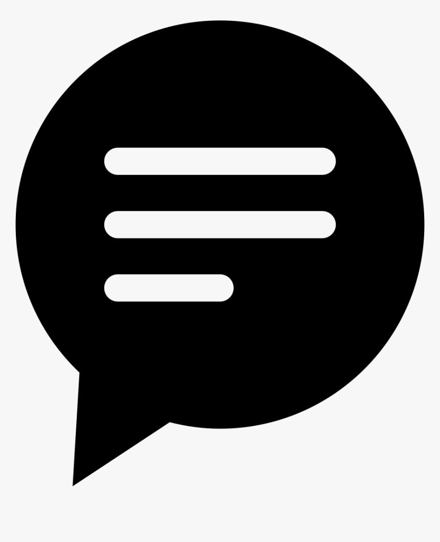 Bubble Icon Png : bubble, Circular, Black, Speech, Bubble, Lines, Transparent, Image, PNGitem
