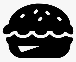 Hamburger Black Food Vector Png Transparent Png Transparent Png Image PNGitem