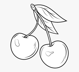 Cherry Blossom Clip Art Black And White Seedless Fruit HD Png Download Transparent Png Image PNGitem