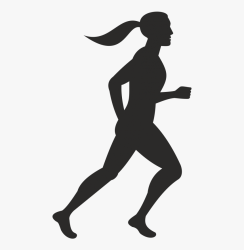 Silhouette Woman Litworld Photography Man Woman Running Icon HD Png Download Transparent Png Image PNGitem