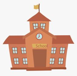 School Cartoon Building School Cartoon Transparent Background HD Png Download Transparent Png Image PNGitem