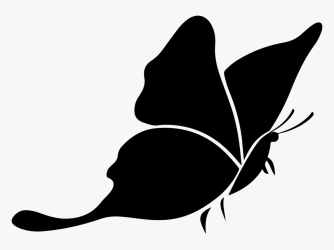 Butterfly Silhouette 3 Icons Png Silhouette Butterfly Clipart Black And White Transparent Png Transparent Png Image PNGitem