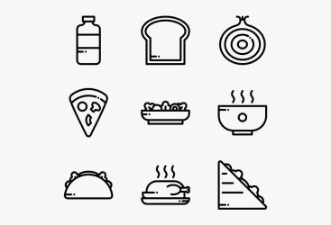 Food Menu Icon Vector HD Png Download Transparent Png Image PNGitem