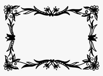 Vector Flower Clipart Black And White HD Png Download Transparent Png Image PNGitem