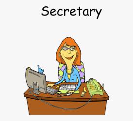 Secretary At School Cartoon HD Png Download Transparent Png Image PNGitem