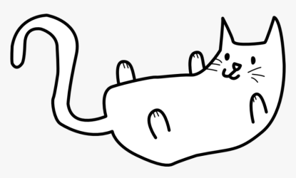 Cat Drawing Clipart Down Png Transparent Download Free Simple Cat Clipart Black And White Png Download Transparent Png Image PNGitem
