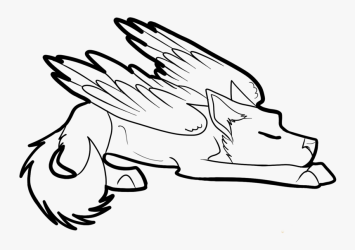 Winged Cat Drawing At Getdrawings Com Free For Personal Anime Easy Wolf Drawings HD Png Download Transparent Png Image PNGitem