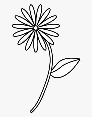 flower drawing simple easy drawings pngitem