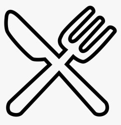 Knife And Fork White Food Icon Png Transparent Png Transparent Png Image PNGitem