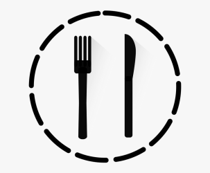 Cutlery Eat Fork Knife Icon Round Strokes Meal Download Arrow Vector HD Png Download Transparent Png Image PNGitem