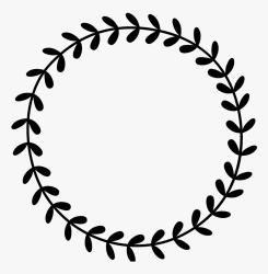 Leafy Wreath Rubber Border Leaf Border Black And White HD Png Download Transparent Png Image PNGitem