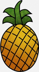 Pineapple Outline Drawing Of Fruits Transparent Png 350x610 #6347230 PNG Image PngJoy