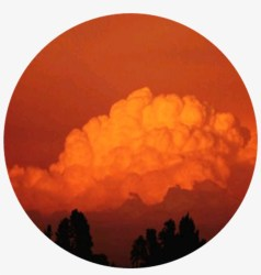 Cloud Silhouettes Orange Aesthetic Aestheticcircle Orange Aesthetic Sky Free Transparent PNG Download PNGkey