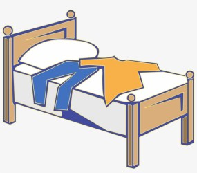 Bedroom Clipart Wooden Bed Clothes On Bed Clipart Free Transparent PNG Download PNGkey