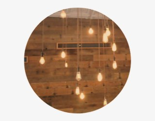 Brown Hanging Lights Bulb String Wood Circle Aesthetic Light Brown Aesthetic Header Free Transparent PNG Download PNGkey