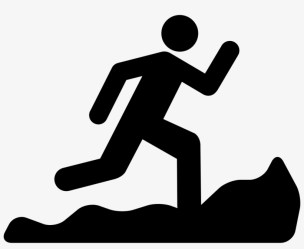 Mountain Running Silhouette Trail Running Icon Free Transparent PNG Download PNGkey