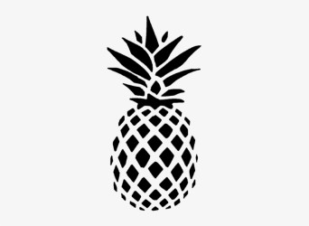 Black And White Pineapple Outline Free Transparent PNG Download PNGkey