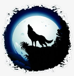 Full Moon Wolf Wolf Howling Easy Drawing Free Transparent PNG Download PNGkey