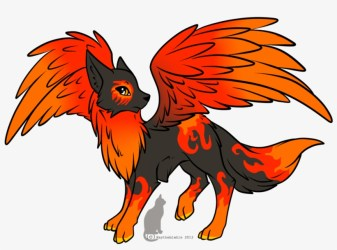 Wolf With Wings Fire Wolf Drawing Free Transparent PNG Download PNGkey