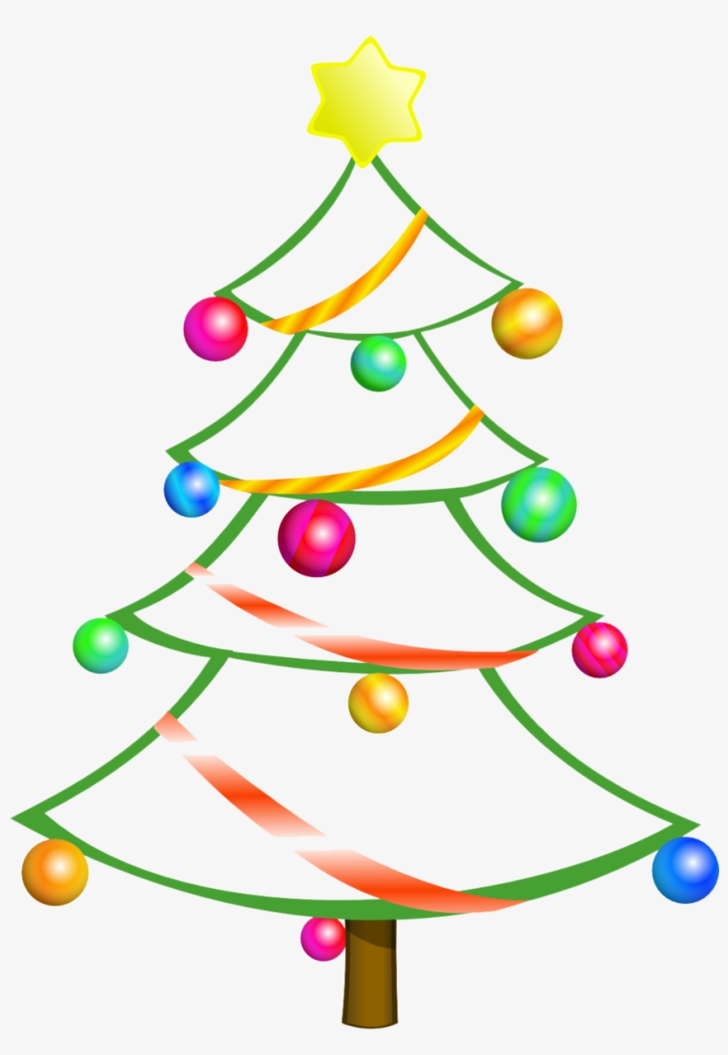 Christmas Tree Clipart Free : christmas, clipart, Modern, Christmas, Clipart, Shower, Curtain, Transparent, Download, PNGkey