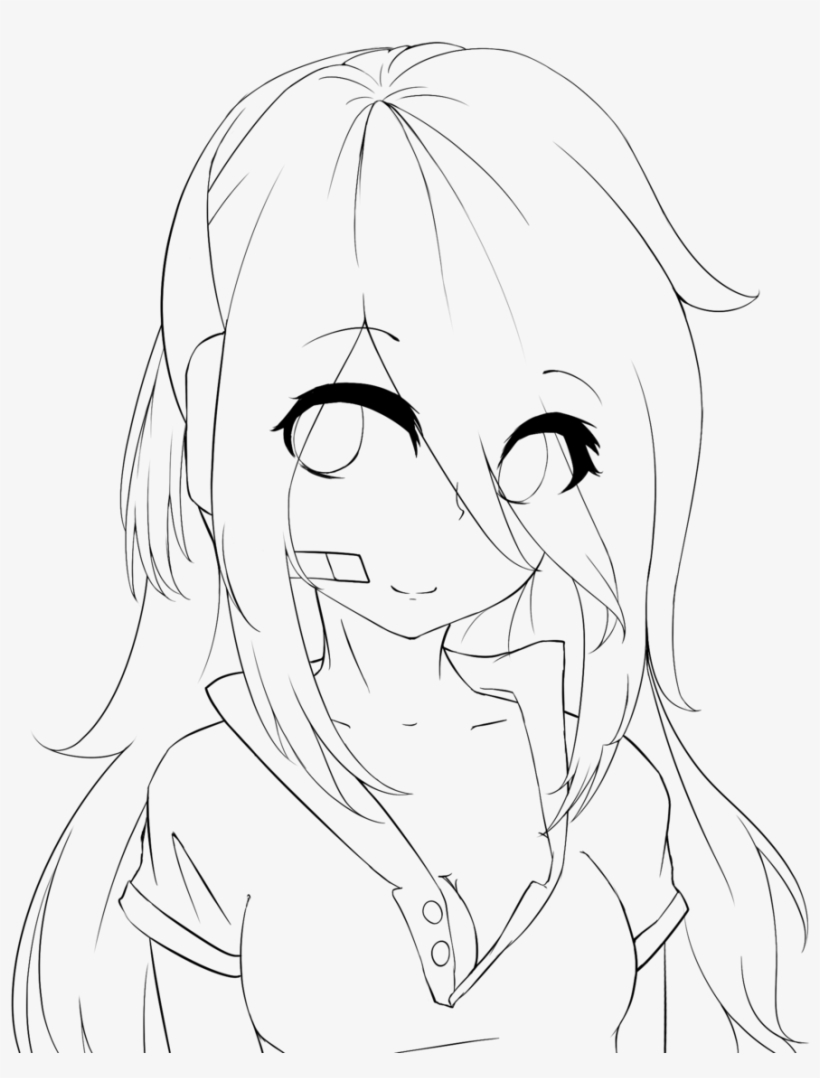 Anime Girl Base With Eyes : anime, Lineart, Practice, Deadlox, Holdspaceshift, Anime, Transparent, Download, PNGkey