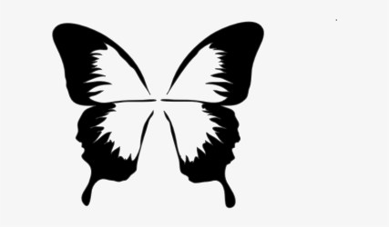 Watercolor Gifts Silhouette Mom Butterfly Clipart Black And White Butterfly Clip Art Free Transparent PNG Download PNGkey