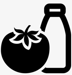 Vegetarian Food Icon Black And White Tomato Free Transparent PNG Download PNGkey