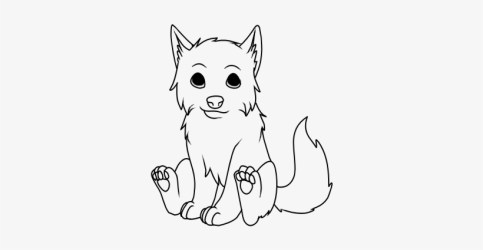 Easy Wolf Drawings Wolf Pup Sitting Drawing Free Transparent PNG Download PNGkey