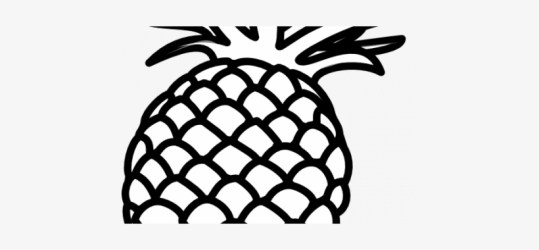 Pineapple Outline Clip Art Pineapple Art Black And White Free Transparent PNG Download PNGkey