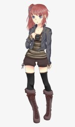 Short Hair Clipart Girl Clipart Brown Hair Female Anime Free Transparent PNG Download PNGkey