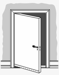 Open Door Png Black And White Free Transparent PNG Download PNGkey