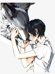 anime #wolf #boy Anime Wolf Boy And Girl Free Transparent PNG Download PNGkey