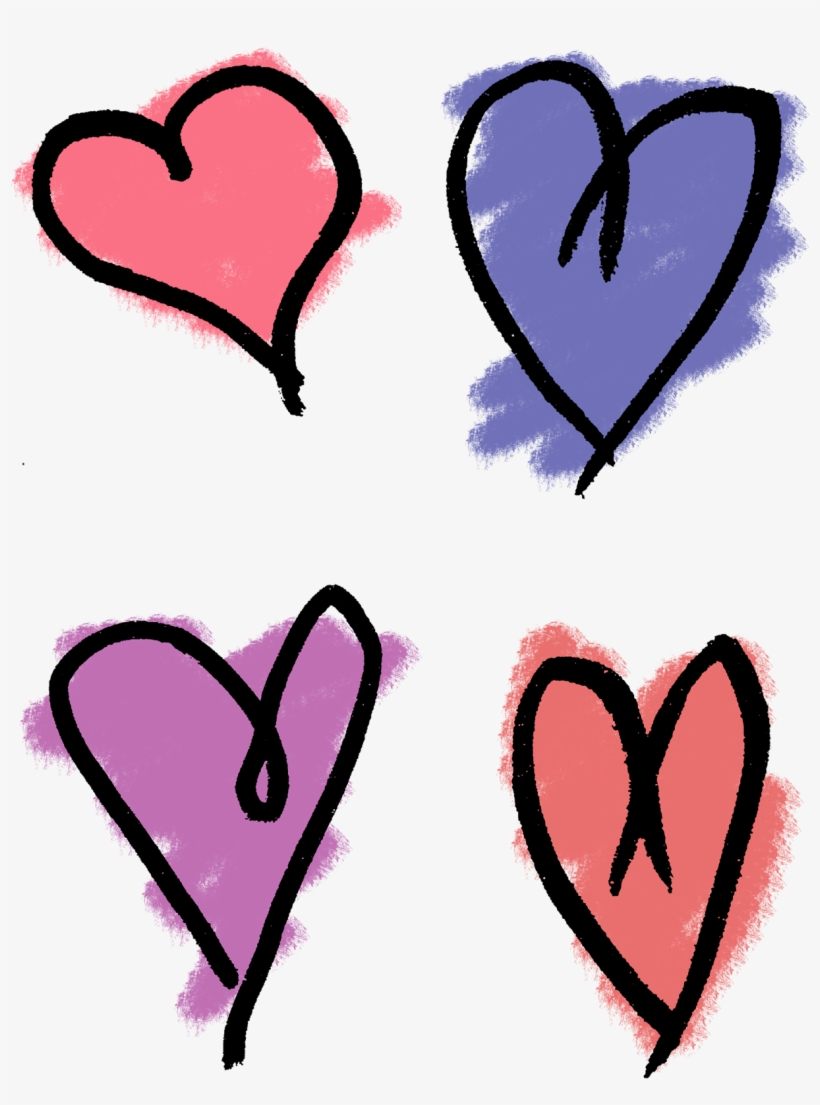 Heart Drawing Png : heart, drawing, Heart, Drawing, Drawn, Hearts, Transparent, Download, PNGkey