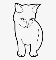 Kitten Clipart Black And White