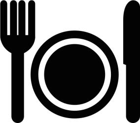Download Fork And Plate Icon Restaurant Icon Png PNG Image with No Background PNGkey com
