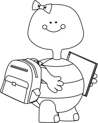 Download Turtle Clipart School Cute School Clipart Black And White PNG Image with No Background PNGkey com