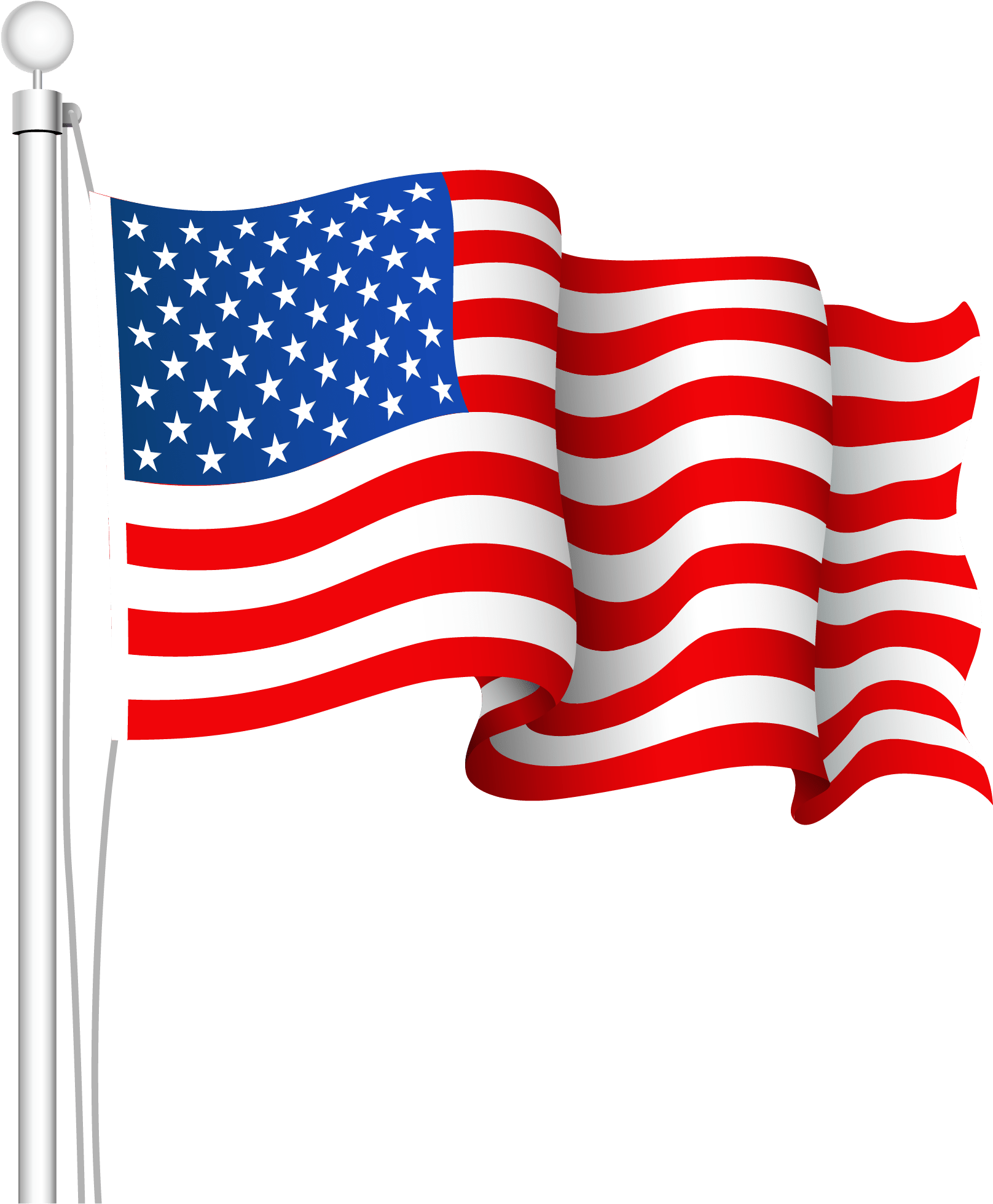 American Flag Waving Png : american, waving, Download, Collection, Clipart, American, Image, Background, PNGkey.com