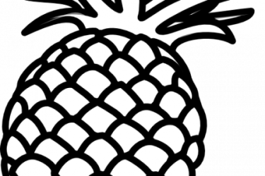 Download Pineapple Outline Clip Art Pineapple Art Black And White PNG Image with No Background PNGkey com