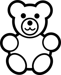 Download Teddy Bear Stencil Idea For Baby Quilt Teddy Bear Clipart Black And White PNG Image with No Background PNGkey com