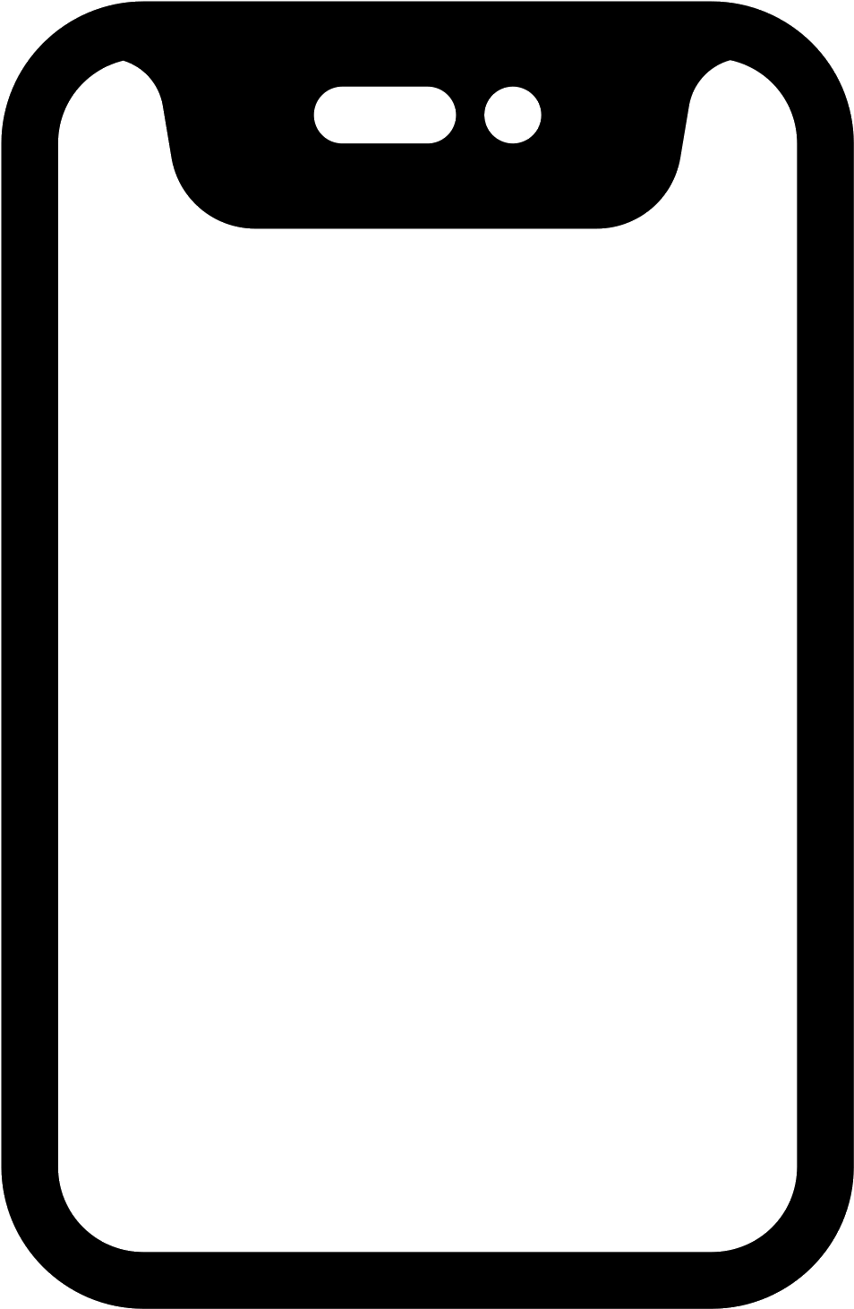 Iphone Vector Png : iphone, vector, Download, Iphone, Filled, Vector, Image, Background, PNGkey.com