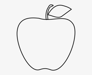 Apple Black White Apple Black And White School Clipart Line Drawing Of Apple 522x593 PNG Download PNGkit