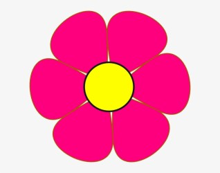 Pink And Yellow Flower Clip Art At Clkercom Vector Flower Clipart Transparent Background 600x564 PNG Download PNGkit