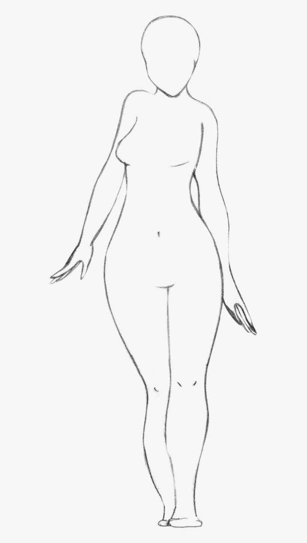 Body Base Female : female, Drawing, Female, 577x1382, Download, PNGkit