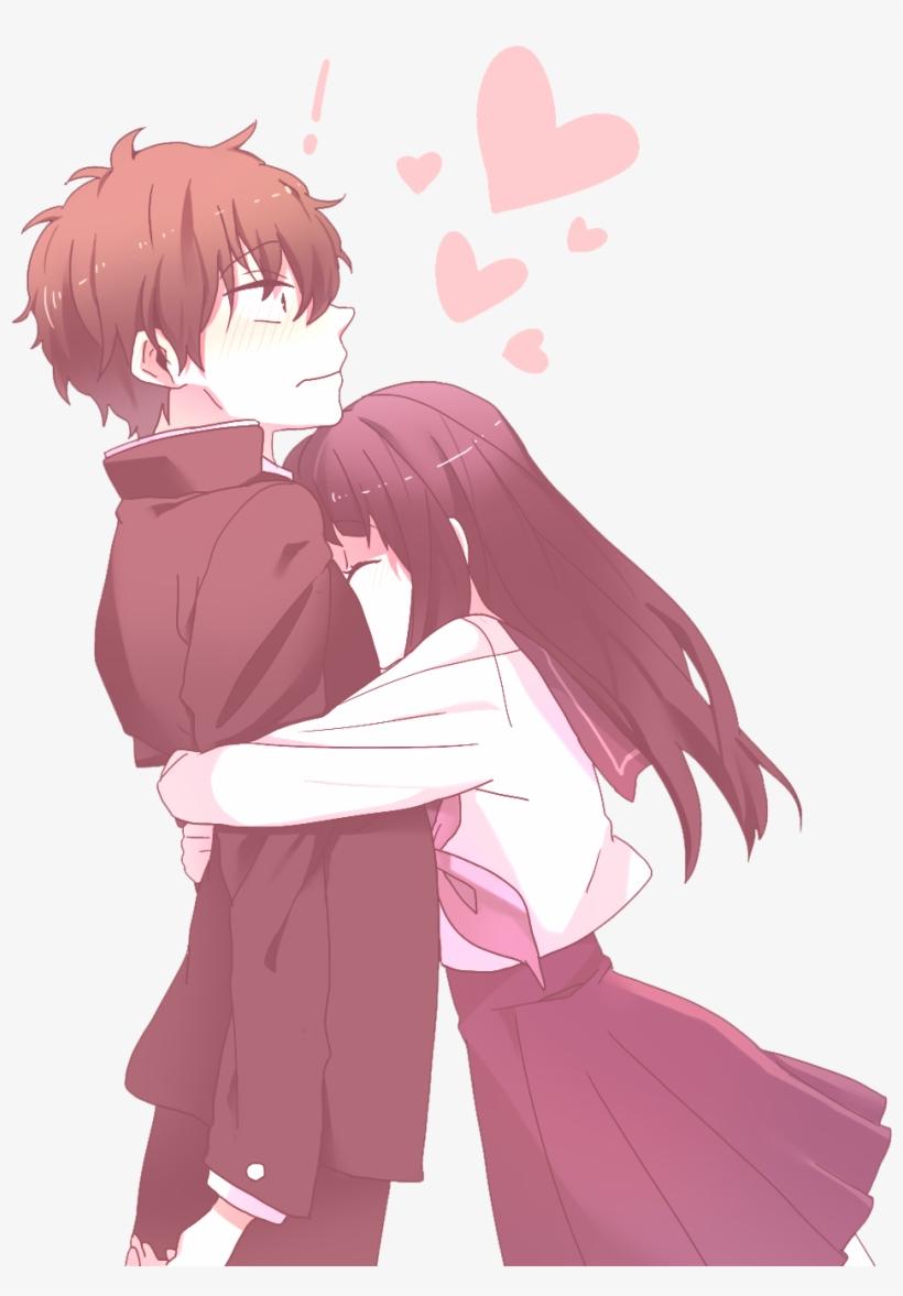 Anime Girl Hugging Boy