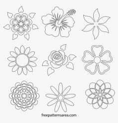 Printable Flower Stencils Outline Templates Stencil Stencil 800x800 PNG Download PNGkit
