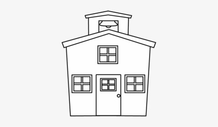 White House Clipart Transparent School Clipart Black And White Transparent 355x400 PNG Download PNGkit