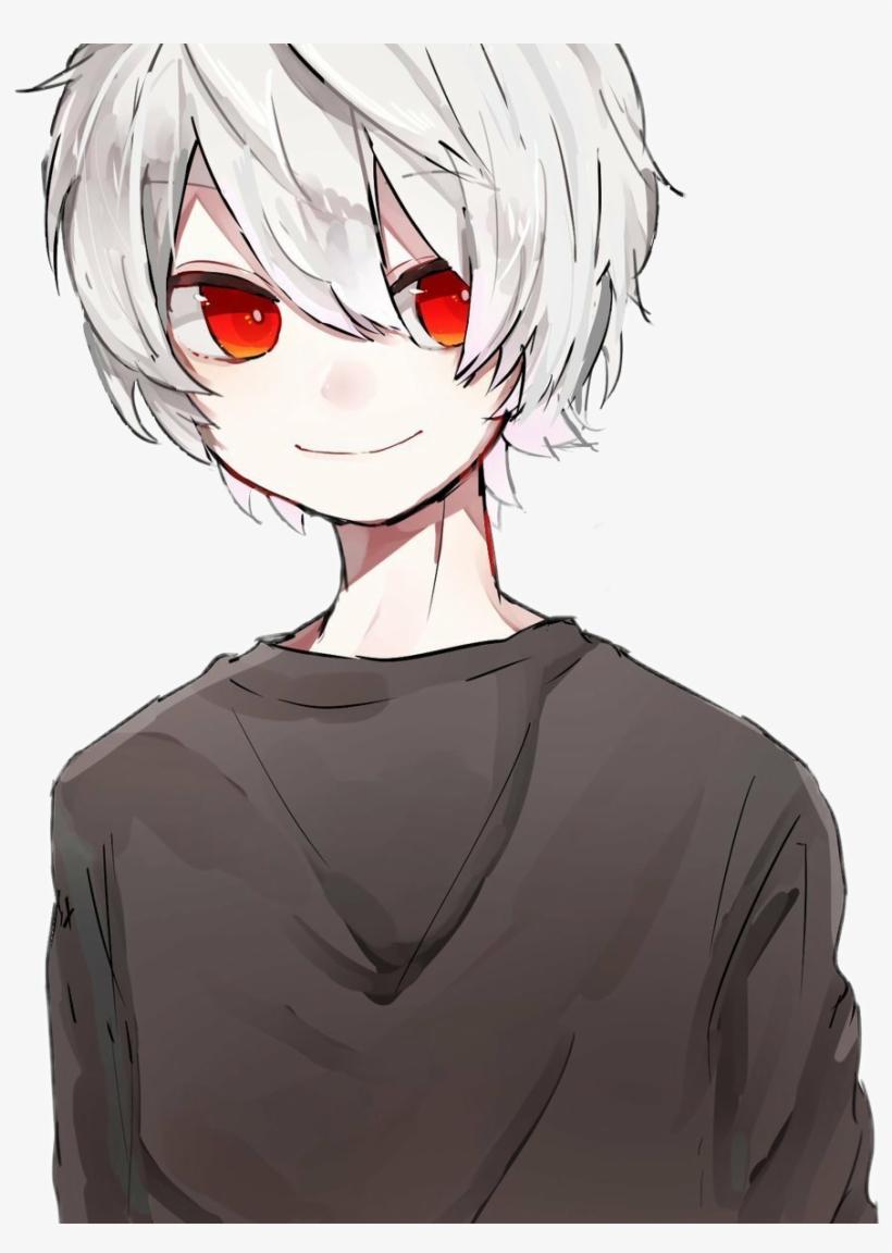 Cute Anime Boy Eyes : anime, Animeboy, Whitehair, Redeyes, Black, Anime, 884x1199, Download, PNGkit