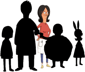 Download He Is The Proprietor Of A Burger Restaurant Which He Bob s Burgers Silhouette Full Size PNG Image PNGkit
