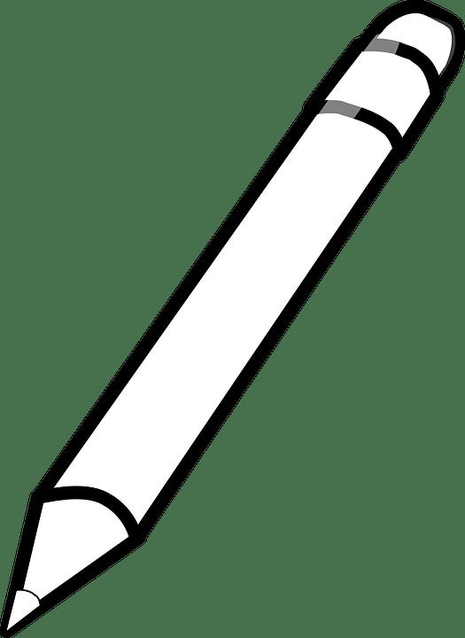 Gambar Pensil Hitam Putih : gambar, pensil, hitam, putih, Download, Pencil, Crayon, White, Black, Image, PNGkit
