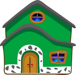 Download Casa Cartoon Png Green House Clipart Full Size PNG Image PNGkit